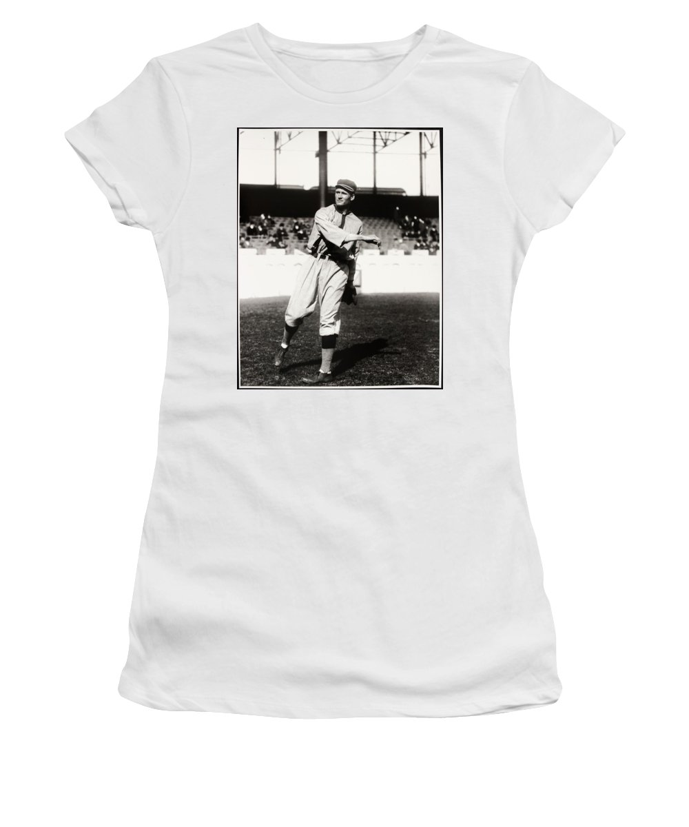 Walter Women's T-Shirt featuring the photograph Walter Johnson Poster by Gianfranco Weiss