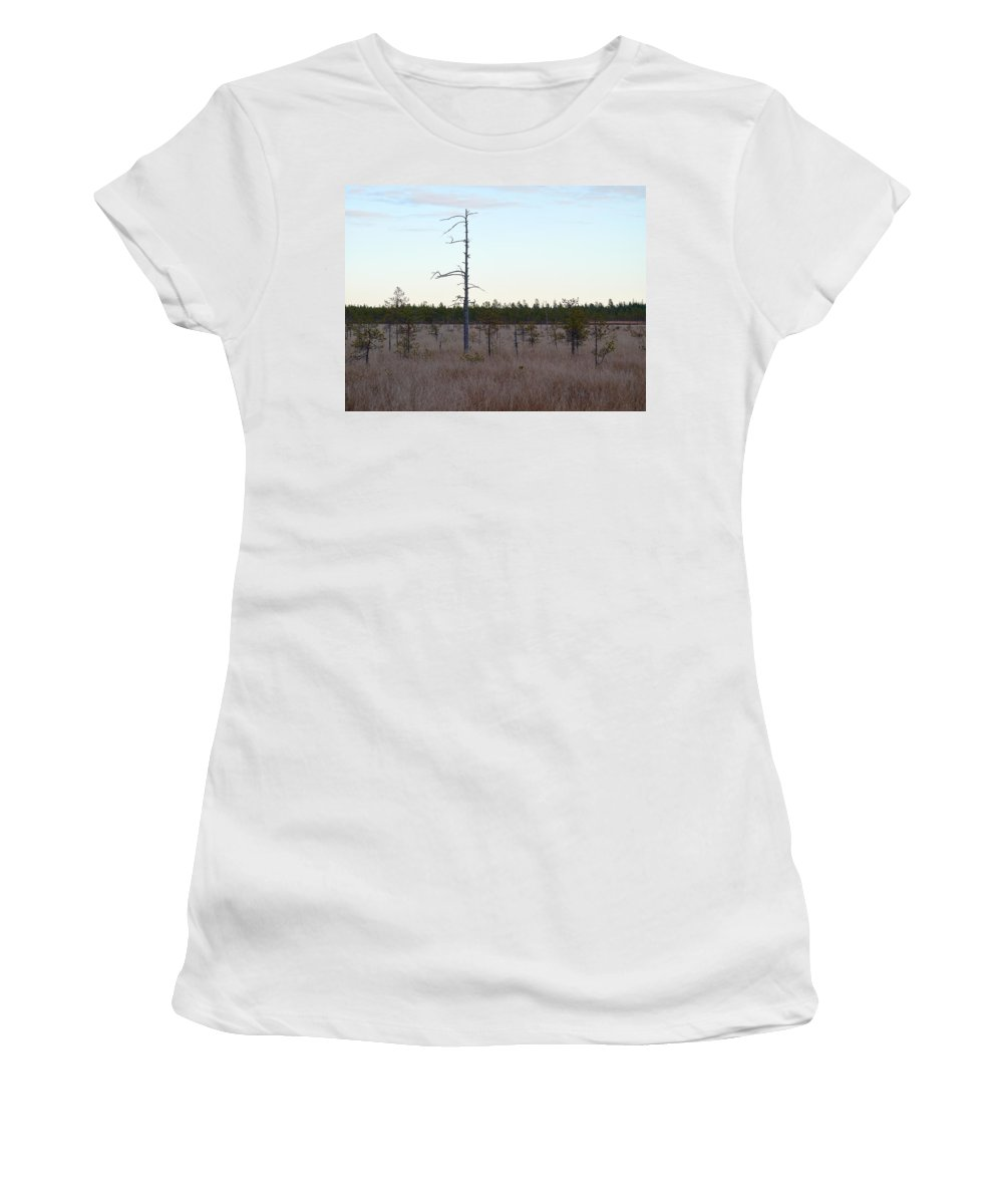 Lehto Women's T-Shirt (Athletic Fit) featuring the photograph Martimoaapa by Jouko Lehto