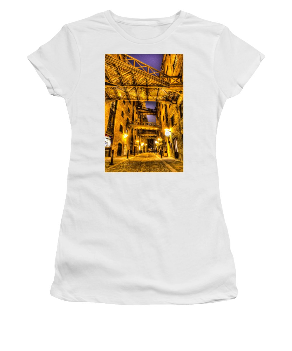 Butlers Wharf Women's T-Shirt (Athletic Fit) featuring the photograph Butlers Wharf London by David Pyatt
