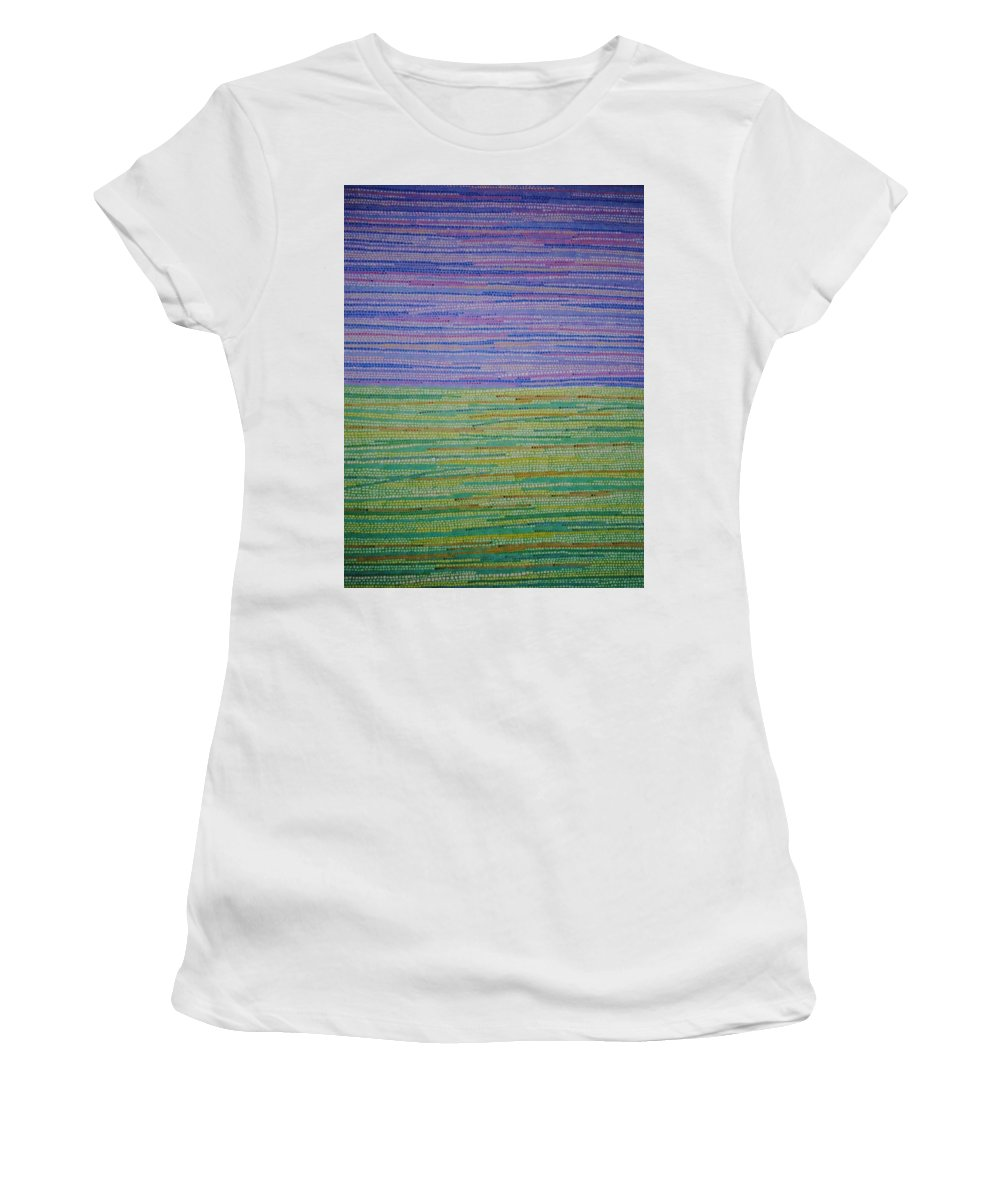 Inspirational Women's T-Shirt (Athletic Fit) featuring the painting Identity by Kyung Hee Hogg