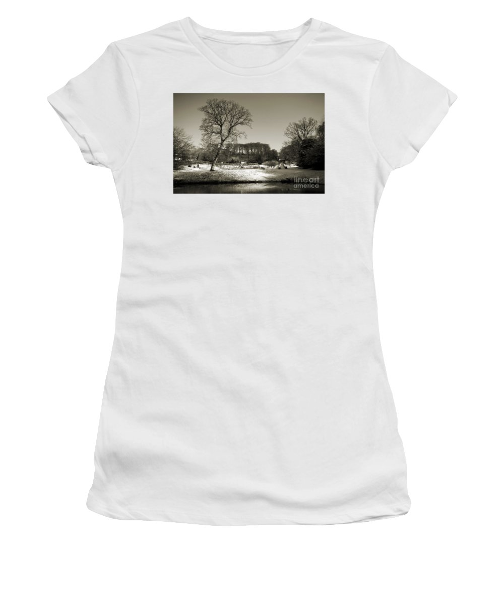 18th Women's T-Shirt (Athletic Fit) featuring the photograph 18th Century Winter by Anne Gilbert