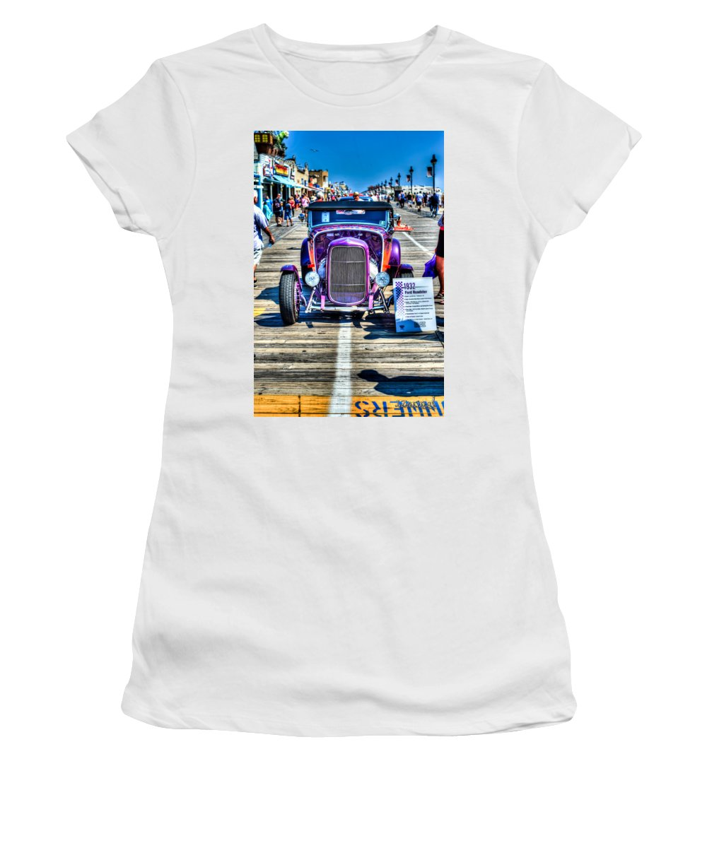 J. Zaring Women's T-Shirt (Athletic Fit) featuring the photograph 1932 Ford Roadster Front by Joshua Zaring