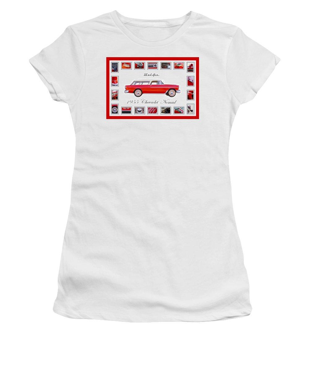 1955 Chevrolet Belair Nomad Art Women's T-Shirt featuring the photograph 1955 Chevrolet Belair Nomad Art by Jill Reger