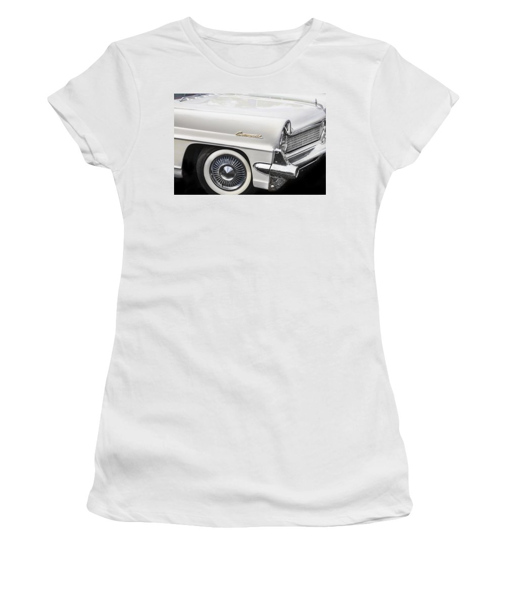 Lincoln Women's T-Shirt featuring the photograph 1959 Lincoln Continental by Rich Franco