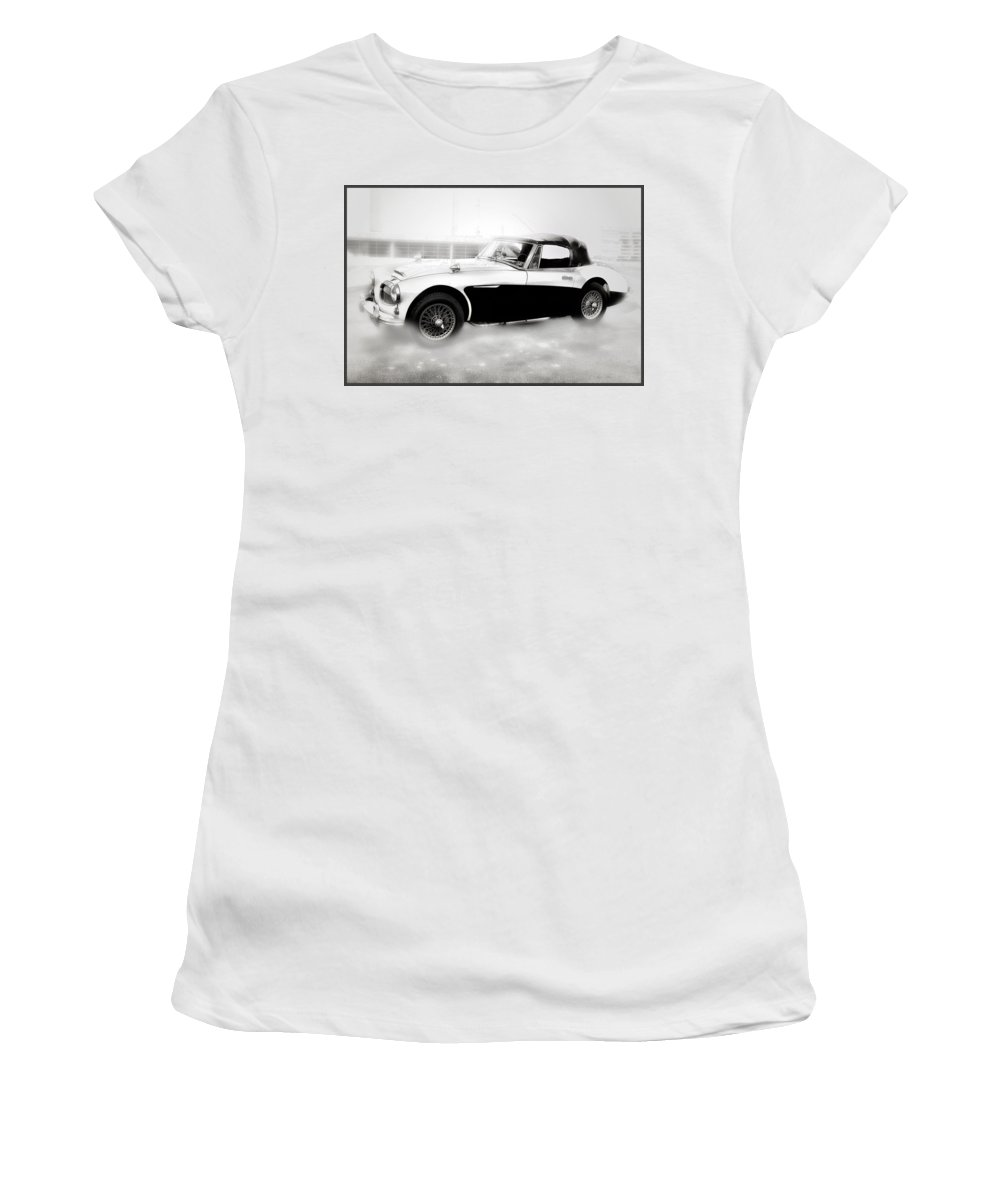 1960 Women's T-Shirt featuring the photograph 1960 Austin Healey by Bill Cannon