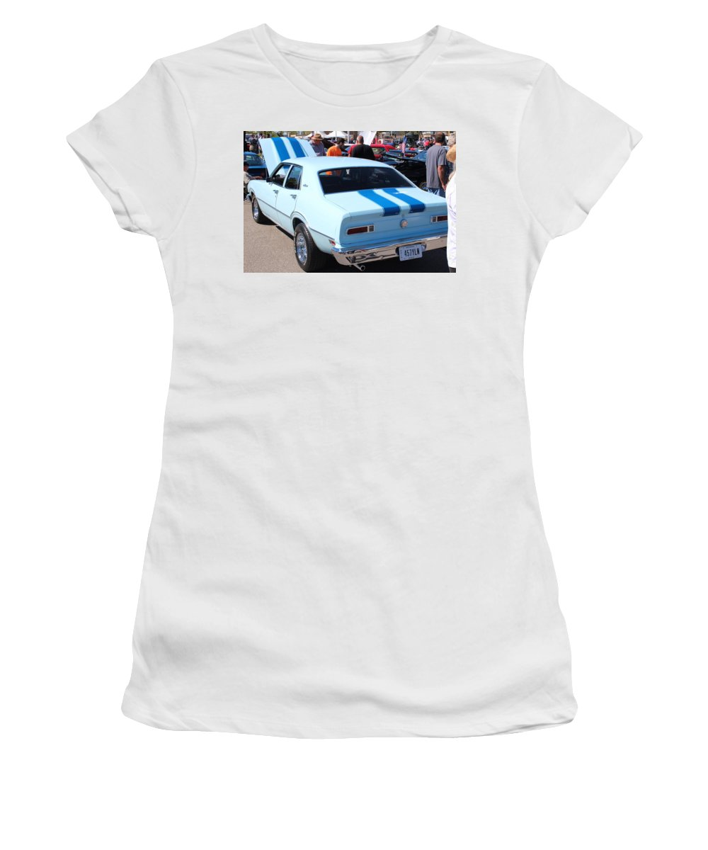 Cars Women's T-Shirt featuring the photograph 1975 Ford Maverick by R A W M