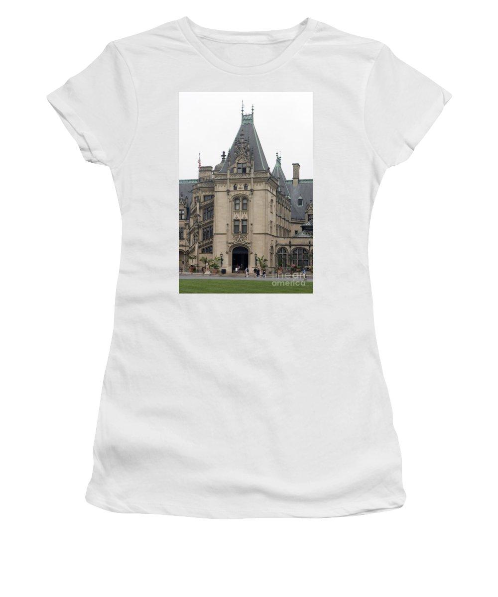 Biltmore Estate Women's T-Shirt (Athletic Fit) featuring the photograph Biltmore Estate Asheville North Carolina by Jason O Watson