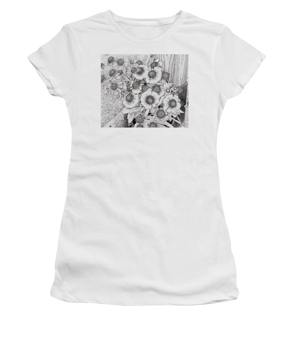 Black Eyed Susans Women's T-Shirt featuring the photograph Black Eyed Susans by Alice Gipson