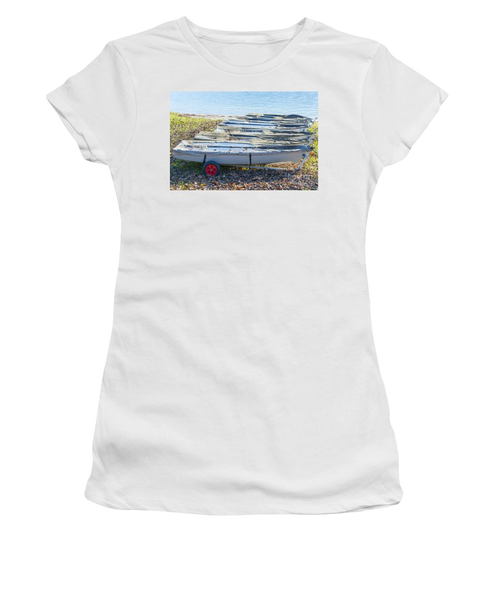 Boat Women's T-Shirt featuring the photograph Boats by Mats Silvan