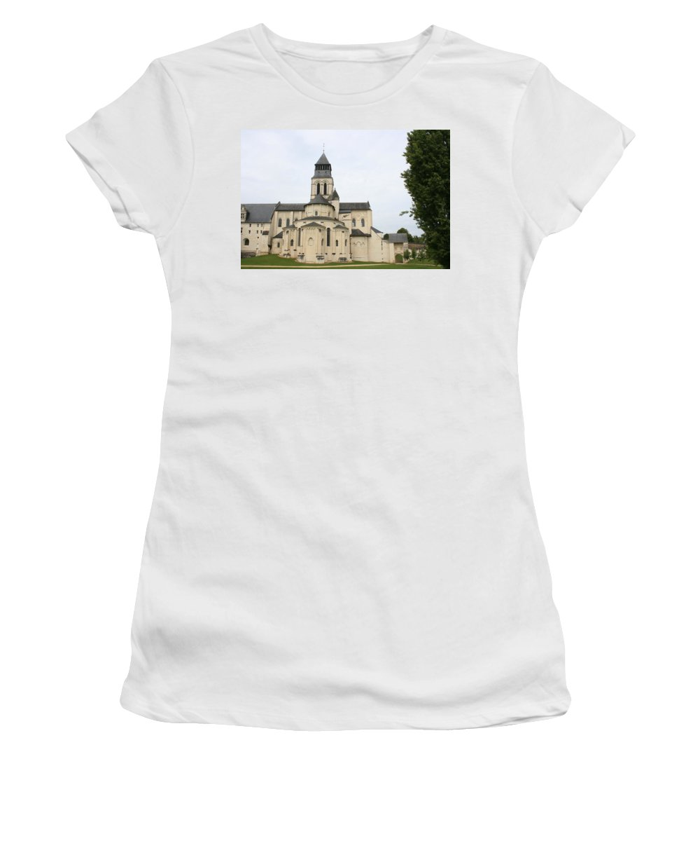 Cloister Women's T-Shirt featuring the photograph Cloister Fontevraud - France by Christiane Schulze Art And Photography