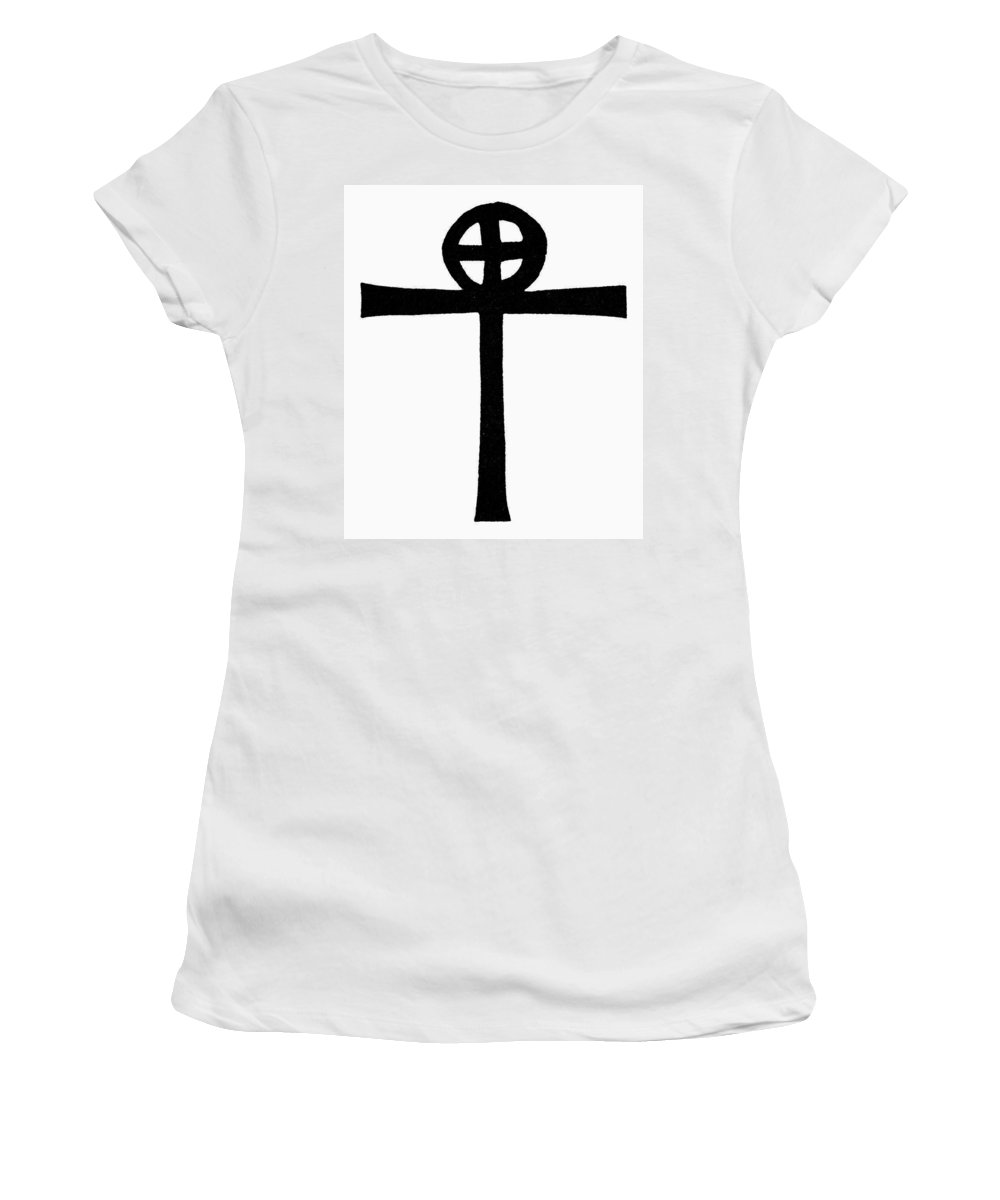 African Women's T-Shirt (Athletic Fit) featuring the painting Coptic Cross by Granger