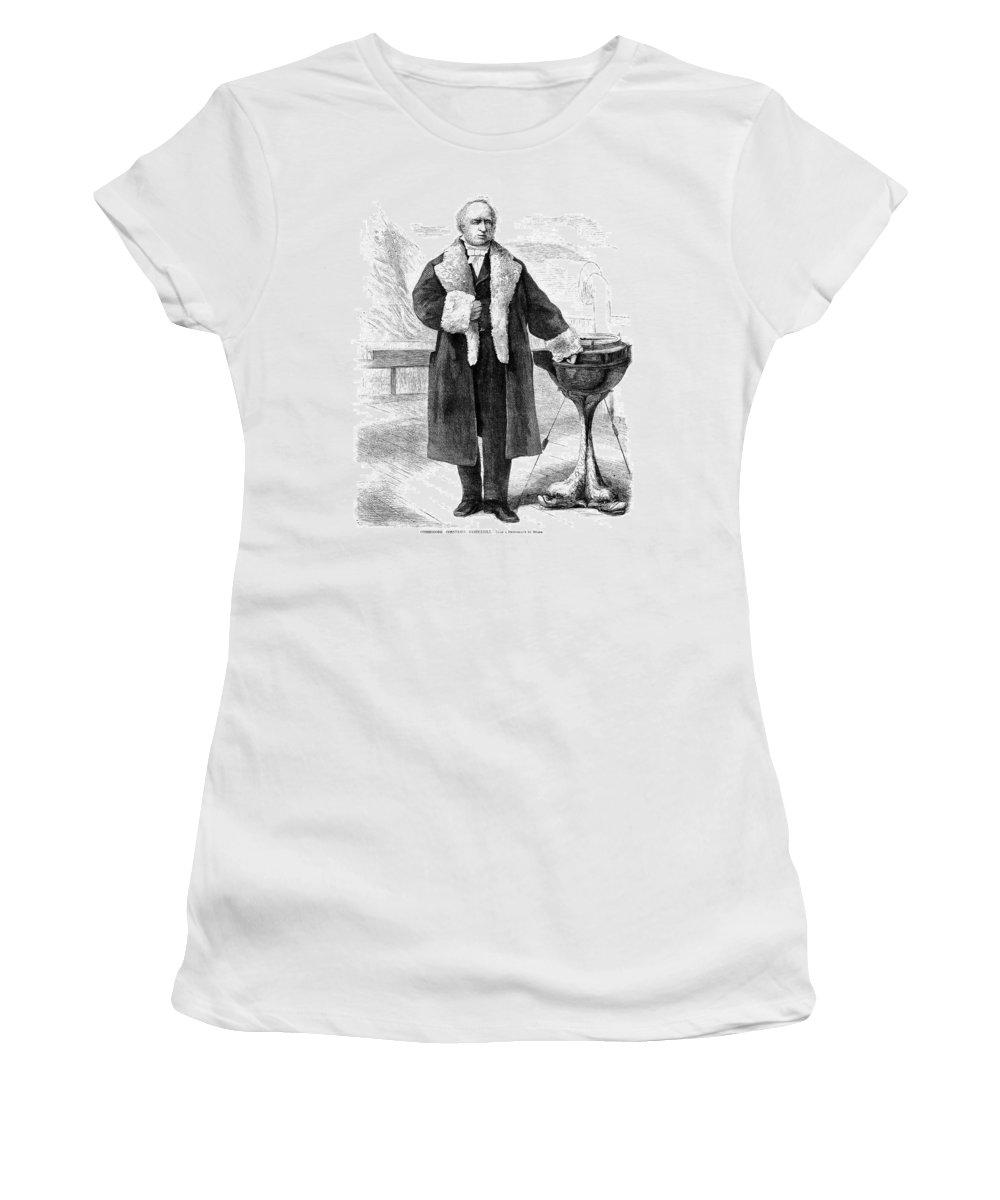 1869 Women's T-Shirt (Athletic Fit) featuring the painting Cornelius Vanderbilt (1794-1877) by Granger