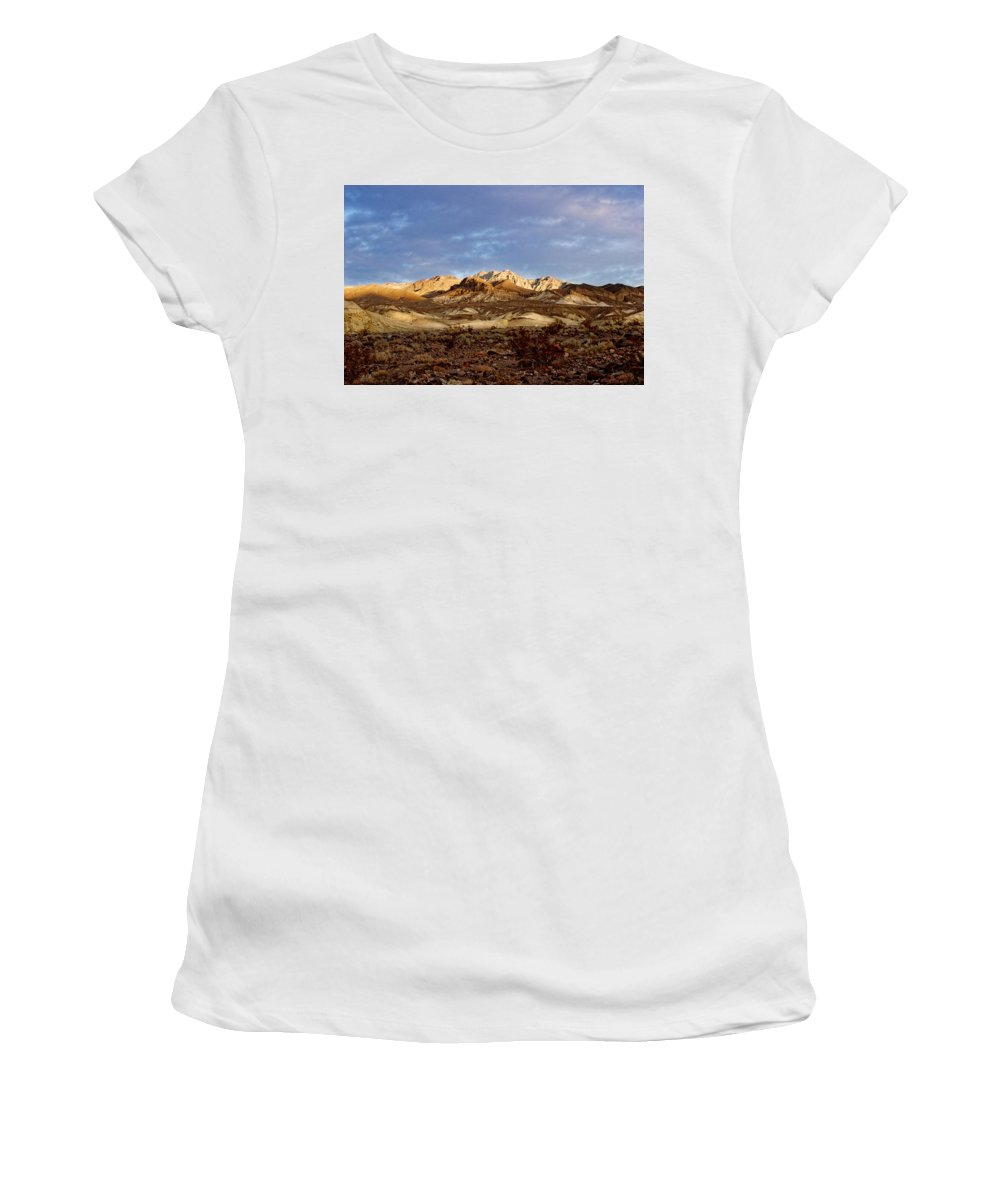 Death Valley Women's T-Shirt (Athletic Fit) featuring the photograph Death Valley Mountains by Diana Hughes
