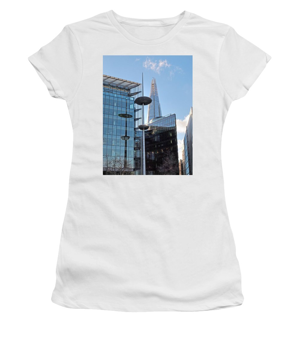 London Architecture Women's T-Shirt (Athletic Fit) featuring the photograph Focus On The Shard London by Gill Billington