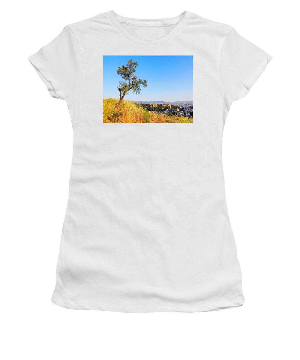 Albaycin Women's T-Shirt featuring the photograph Granada by Karol Kozlowski
