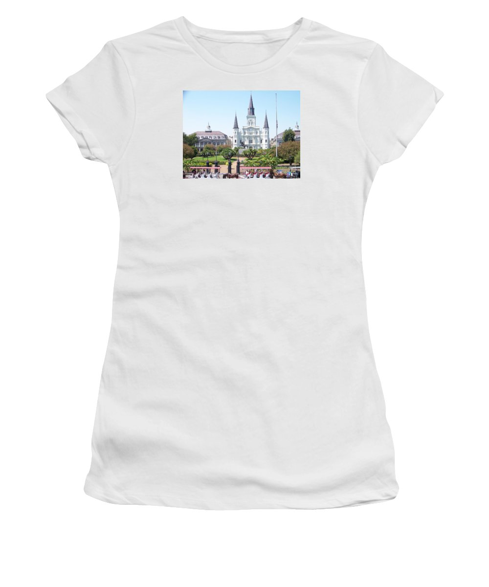 Jackson Square Women's T-Shirt (Athletic Fit) featuring the photograph Jackson Square by Kevin Croitz