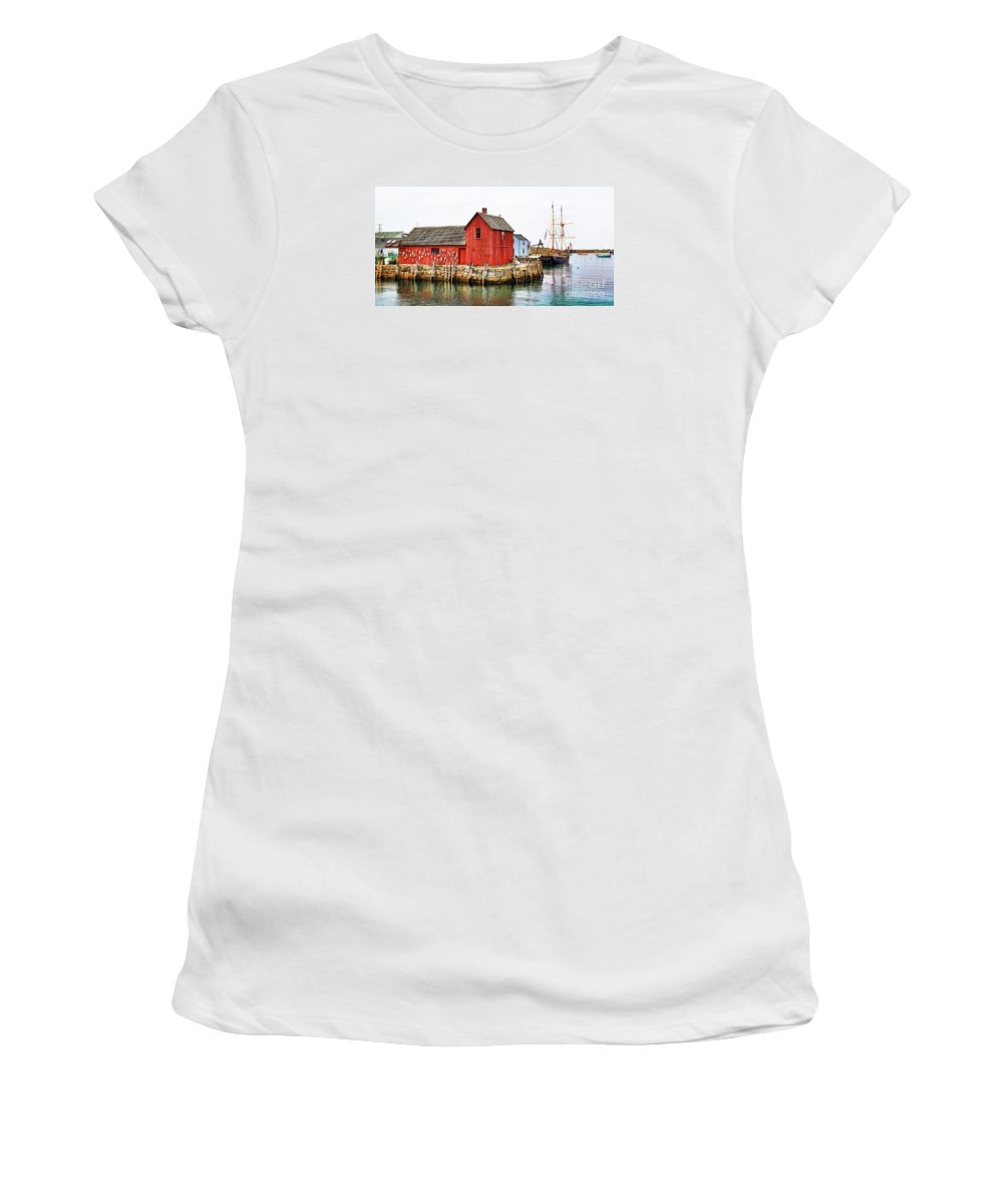 Massachusetts Women's T-Shirt (Athletic Fit) featuring the photograph Motif Number 1 by Jack Schultz