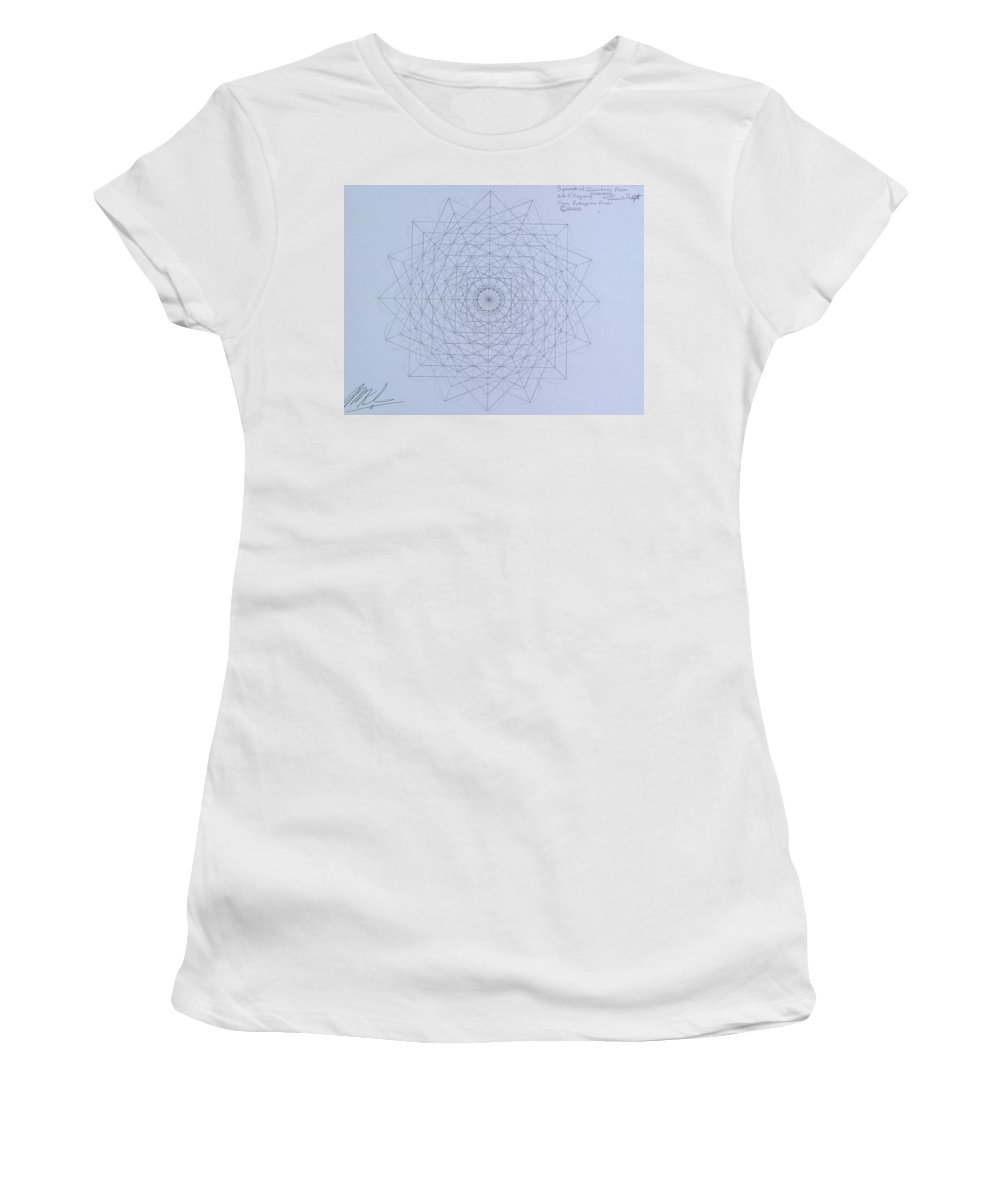 Jason Women's T-Shirt (Athletic Fit) featuring the drawing Quantum Foam by Jason Padgett