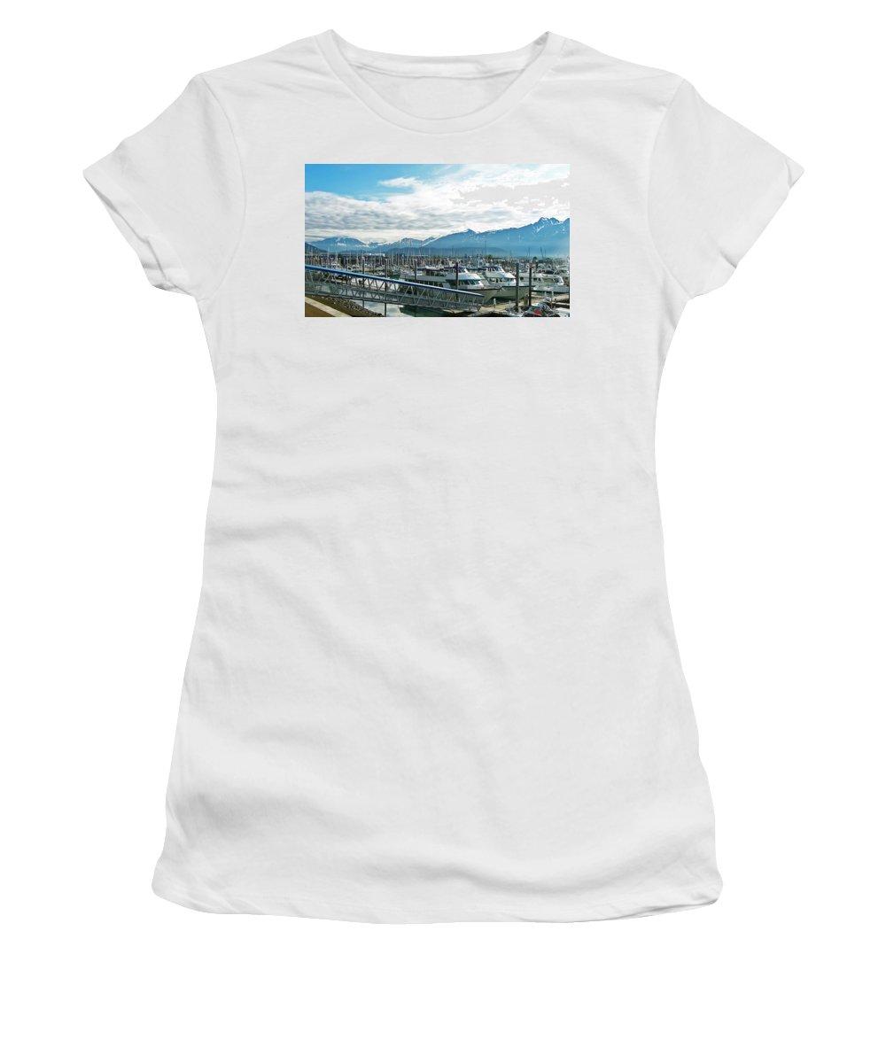 Alaska Women's T-Shirt featuring the photograph Seward Alaska by Aimee L Maher ALM GALLERY