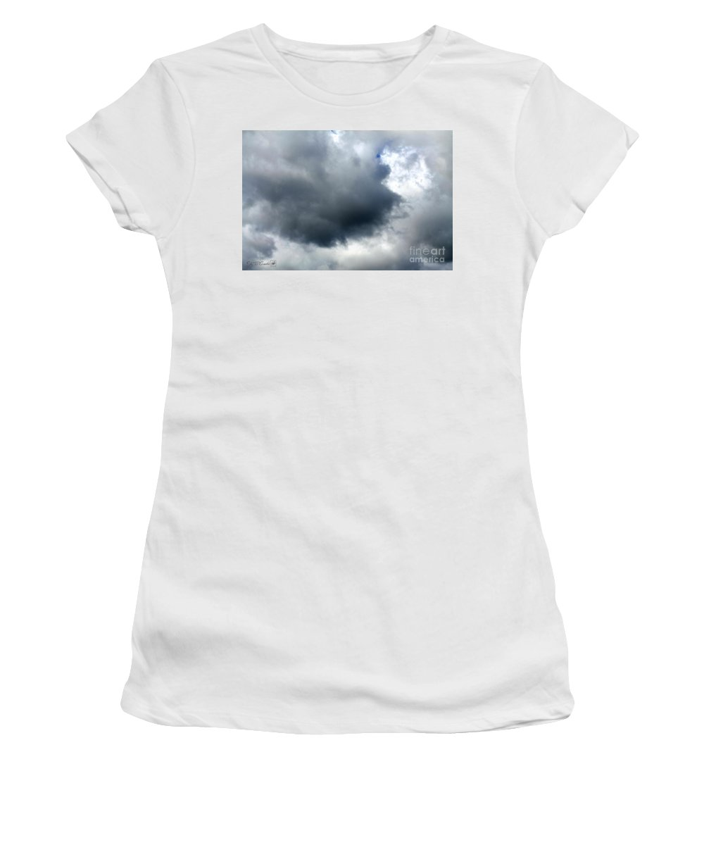 Storm Clouds Women's T-Shirt (Athletic Fit) featuring the photograph Storm Clouds by J McCombie