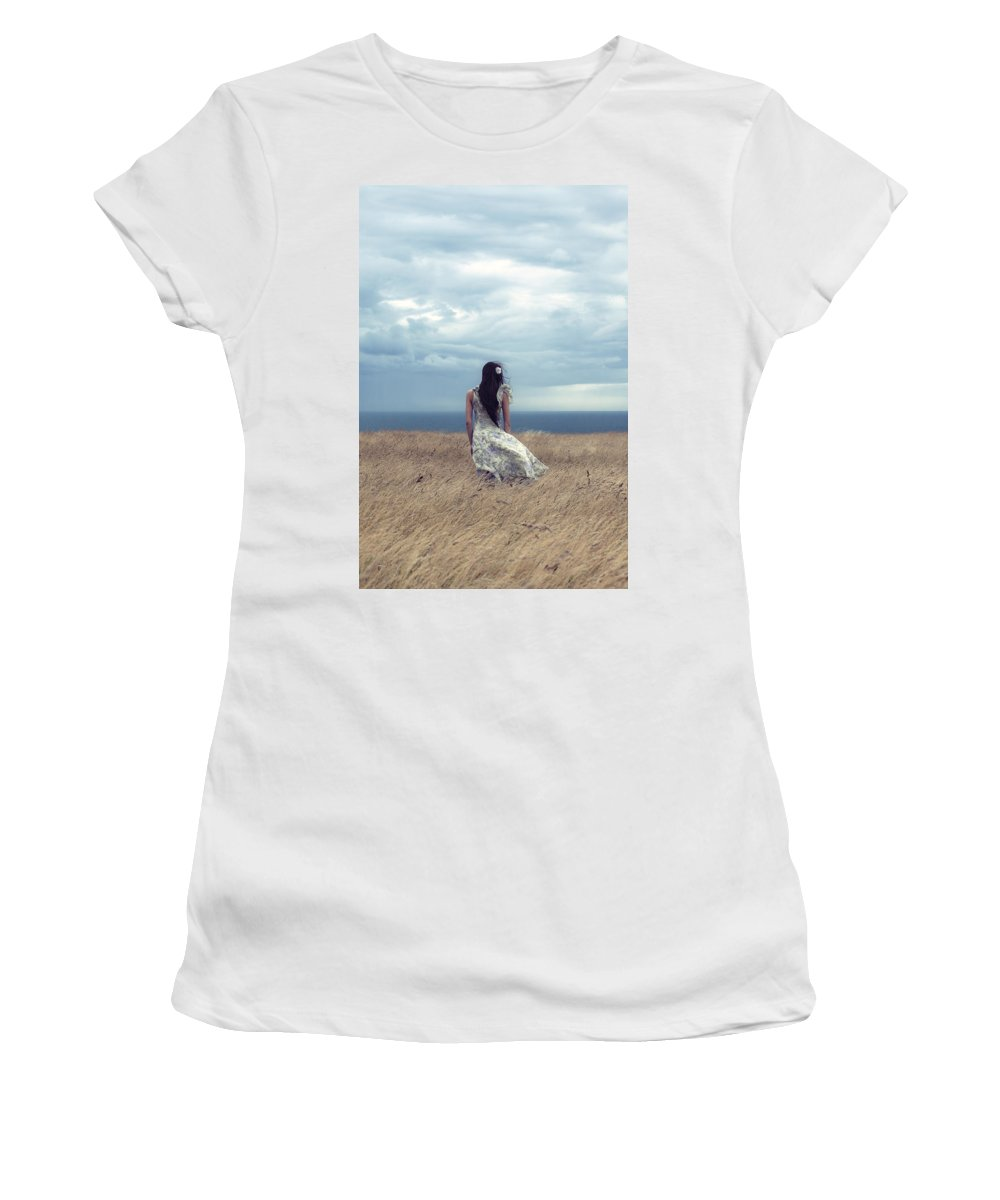 Girl Women's T-Shirt featuring the photograph Windy Day by Joana Kruse