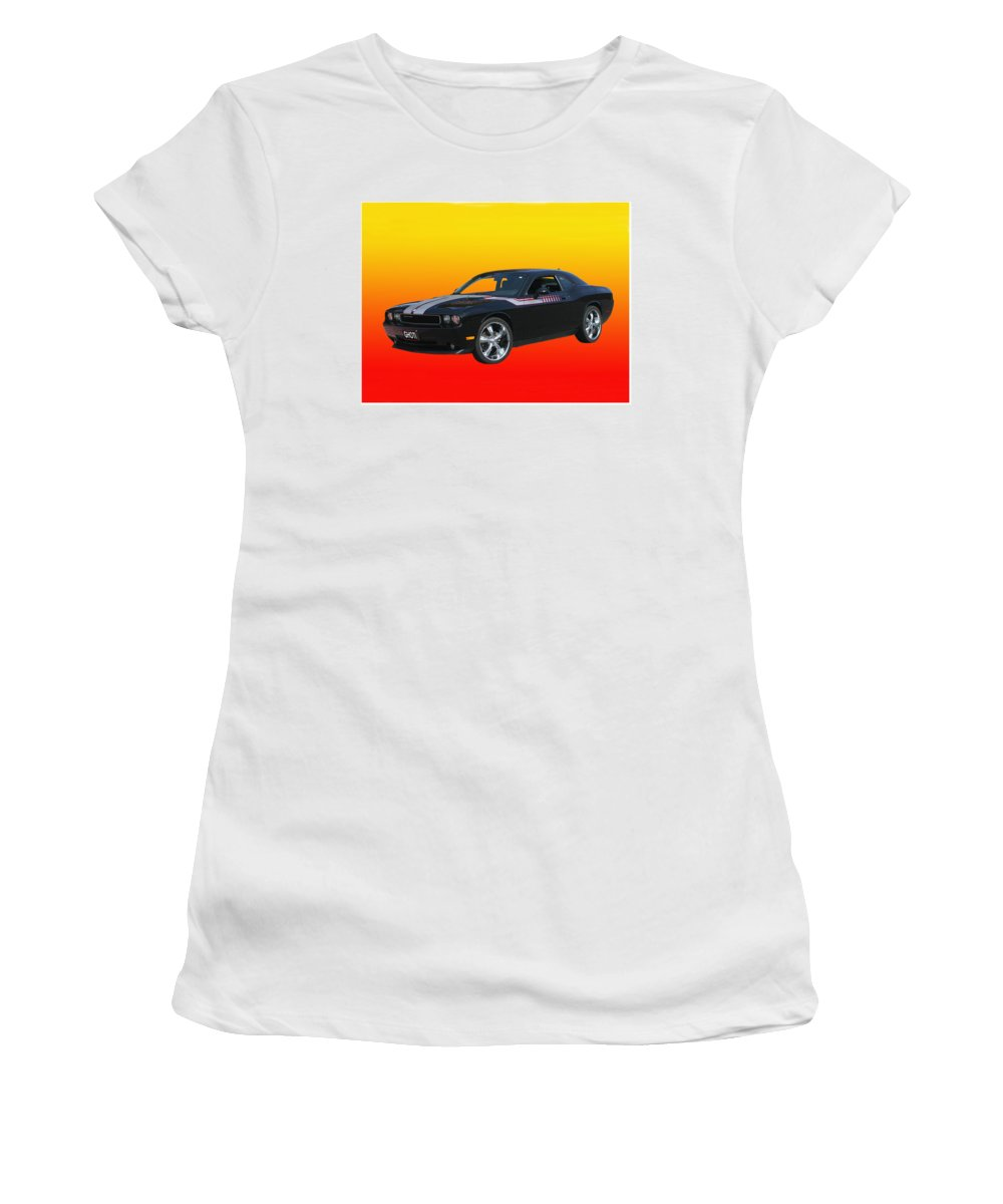 2010 Dodge Challenger Photographed By Jack Pumphrey Women's T-Shirt featuring the photograph 2010 Dodge Challenger by Jack Pumphrey