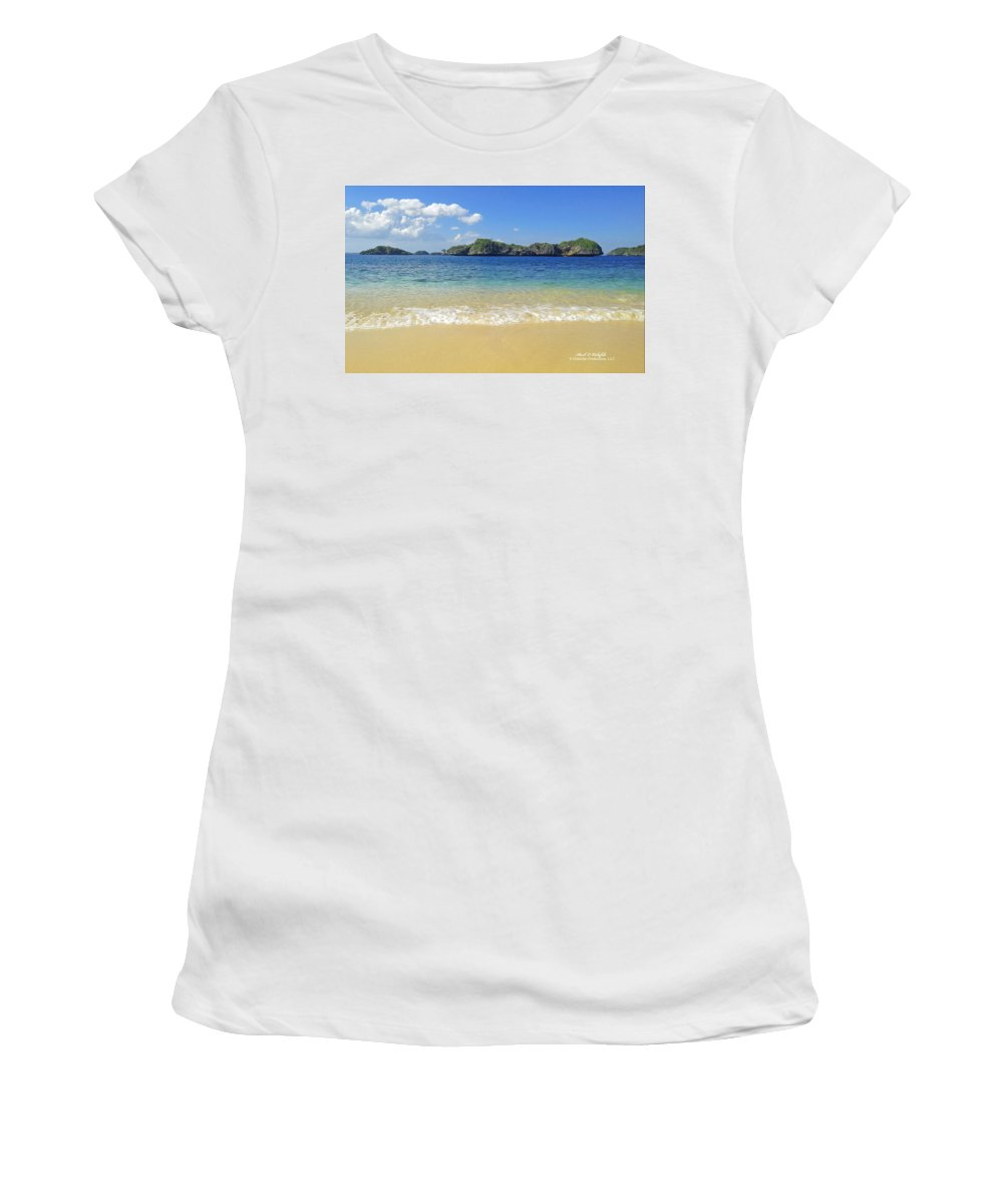100 Islands Women's T-Shirt (Athletic Fit) featuring the photograph 2013 12 17 03 100 A Islands by Mark Olshefski