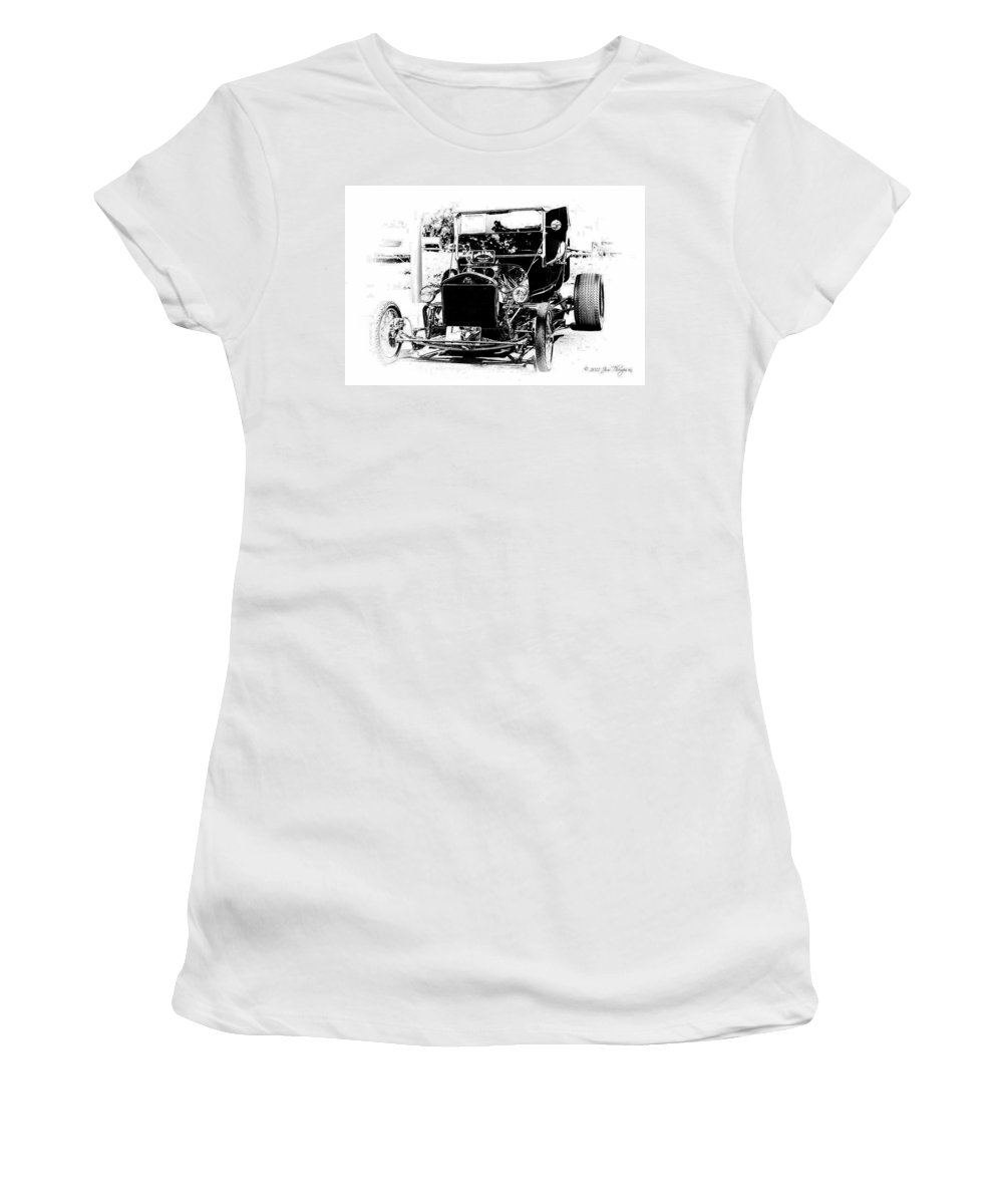 Motor Vehicles Women's T-Shirt (Athletic Fit) featuring the photograph 23 Ford by Jim Thompson