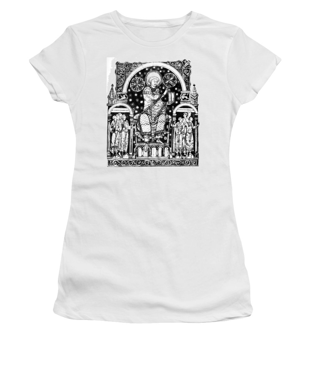 12th Century Women's T-Shirt (Athletic Fit) featuring the painting St by Granger