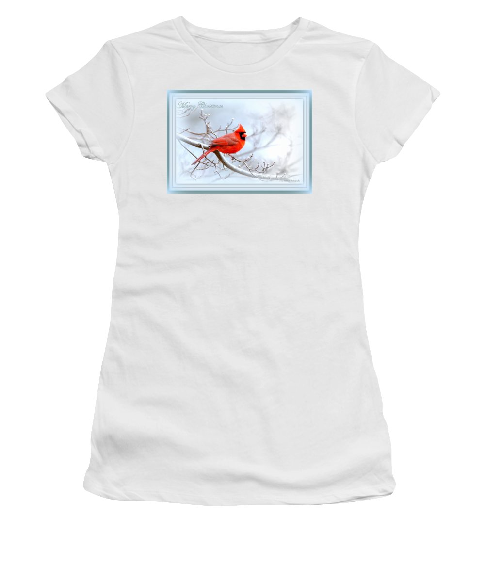 Cardinal Women's T-Shirt (Athletic Fit) featuring the photograph 2559-1 Cardinal by Travis Truelove