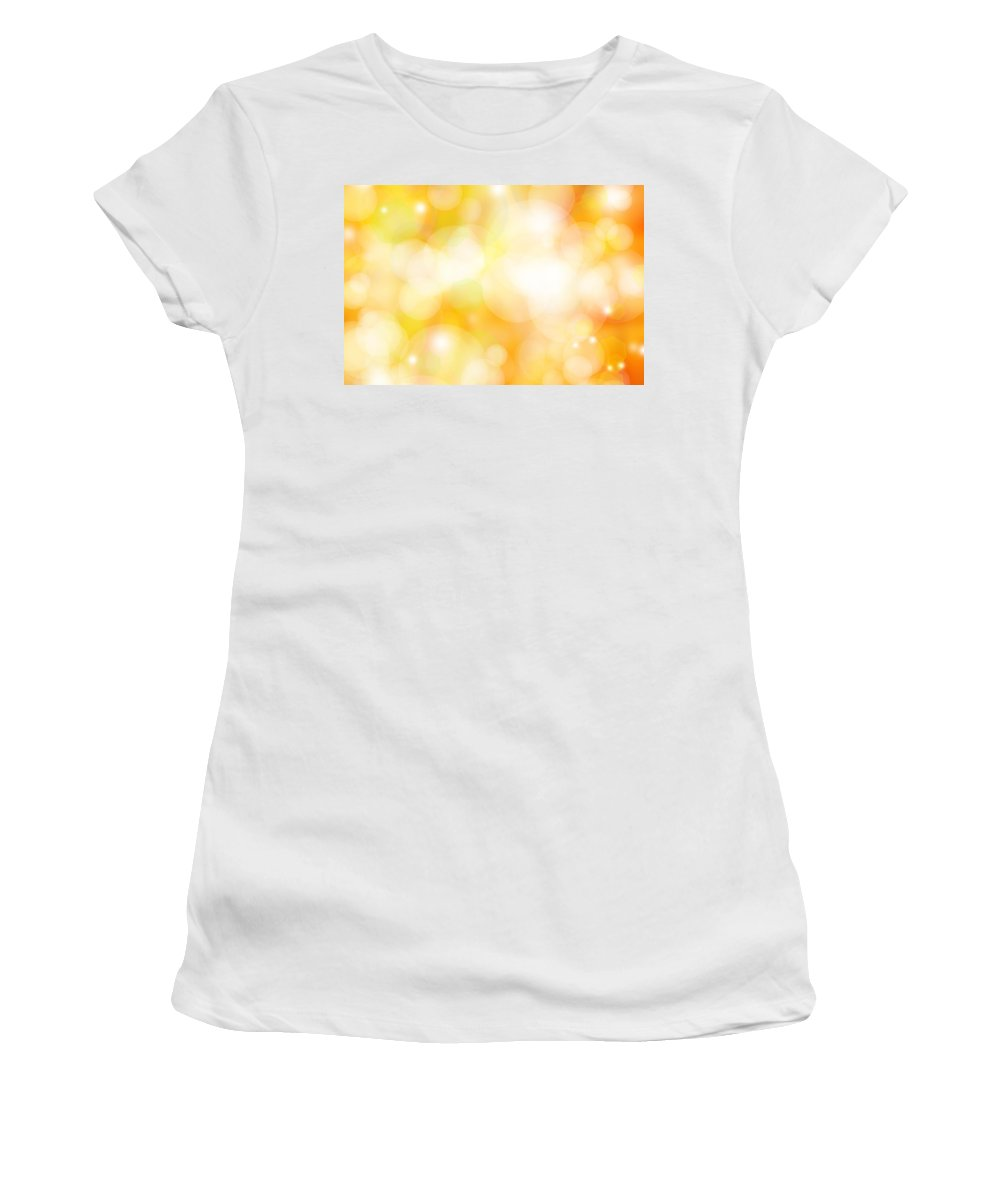 Abstract Women's T-Shirt featuring the photograph Abstract Background by Les Cunliffe