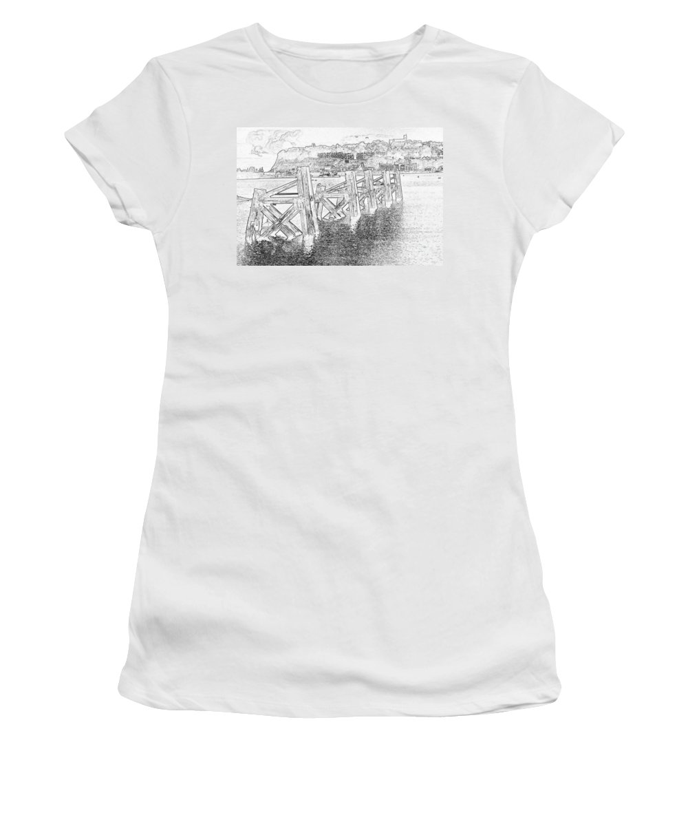 Cardiff Bay Women's T-Shirt (Athletic Fit) featuring the photograph Cardiff Bay by Steve Purnell
