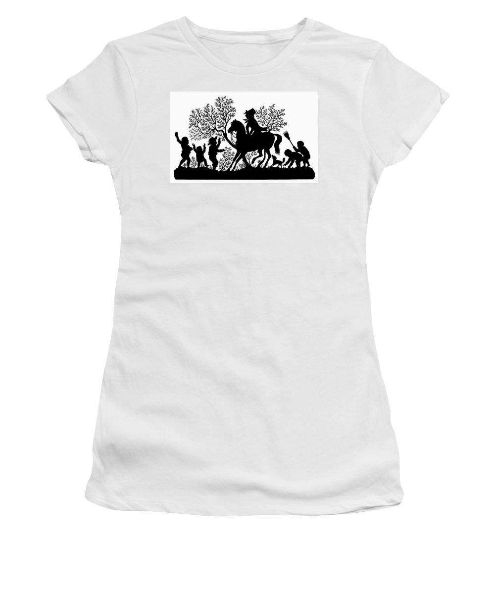 19th Century Women's T-Shirt (Athletic Fit) featuring the painting Children Playing by Granger