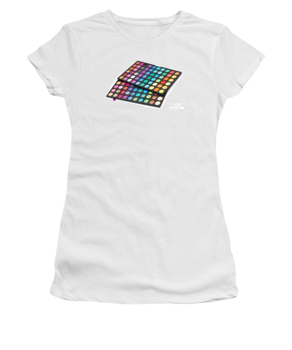 Make Women's T-Shirt featuring the photograph Makeup Color Palette by Cristian M Vela