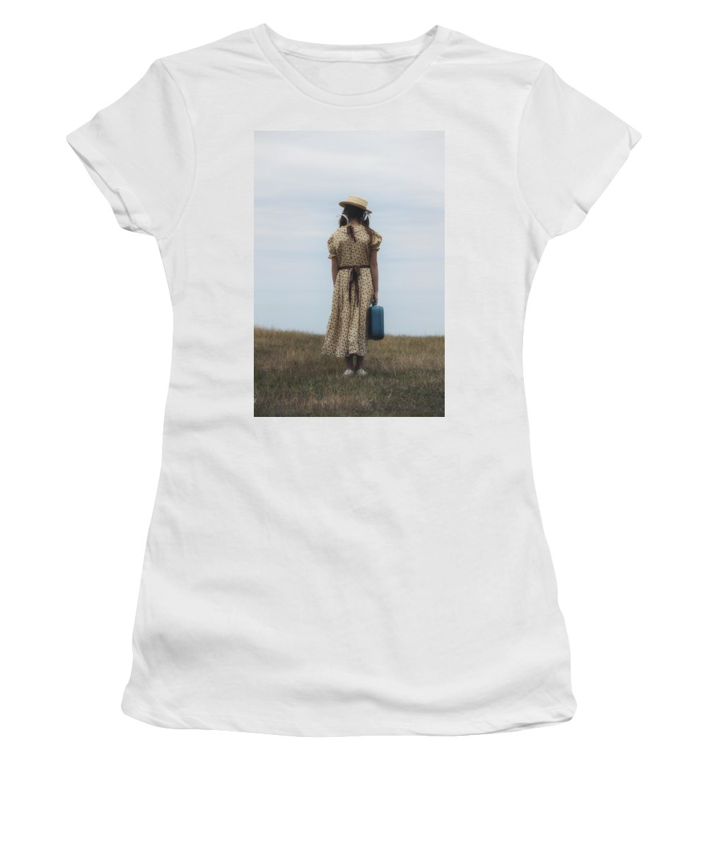Girl Women's T-Shirt (Athletic Fit) featuring the photograph Refugee Girl by Joana Kruse