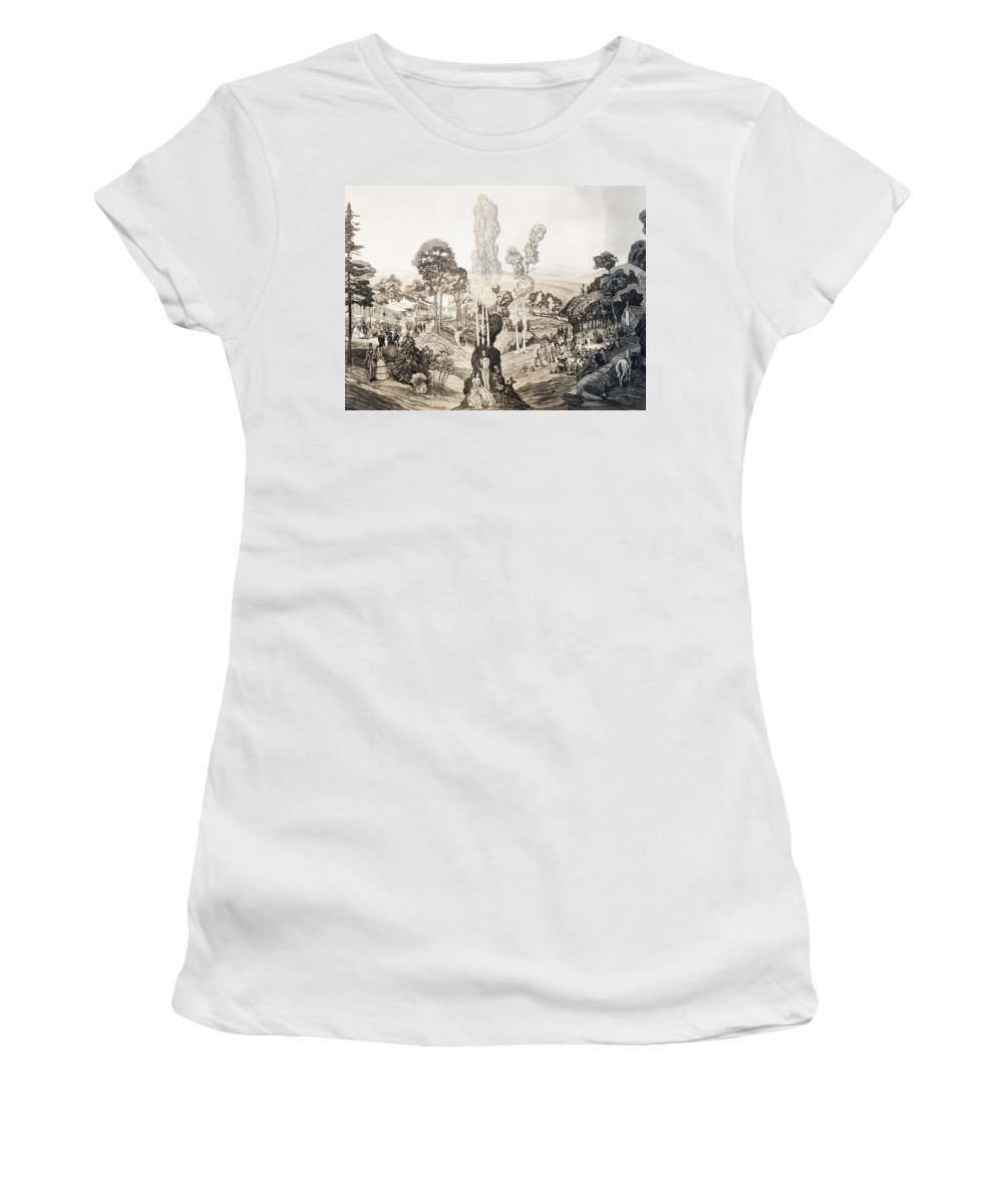 1850 Women's T-Shirt (Athletic Fit) featuring the painting White Sulphur Springs by Granger
