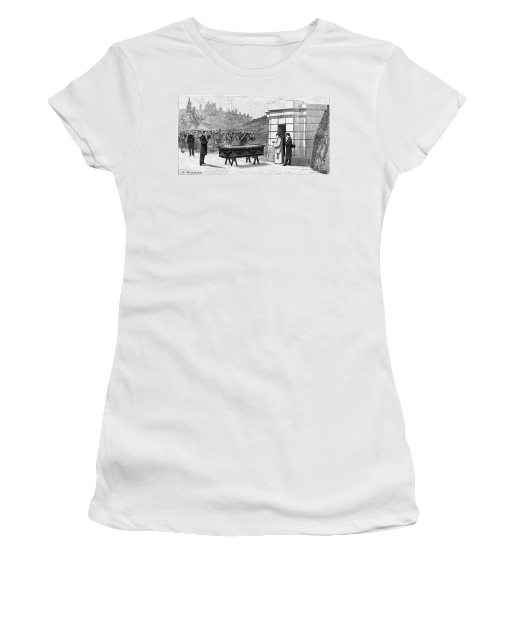 1885 Women's T-Shirt (Athletic Fit) featuring the painting William Henry Vanderbilt (1821-1885) by Granger