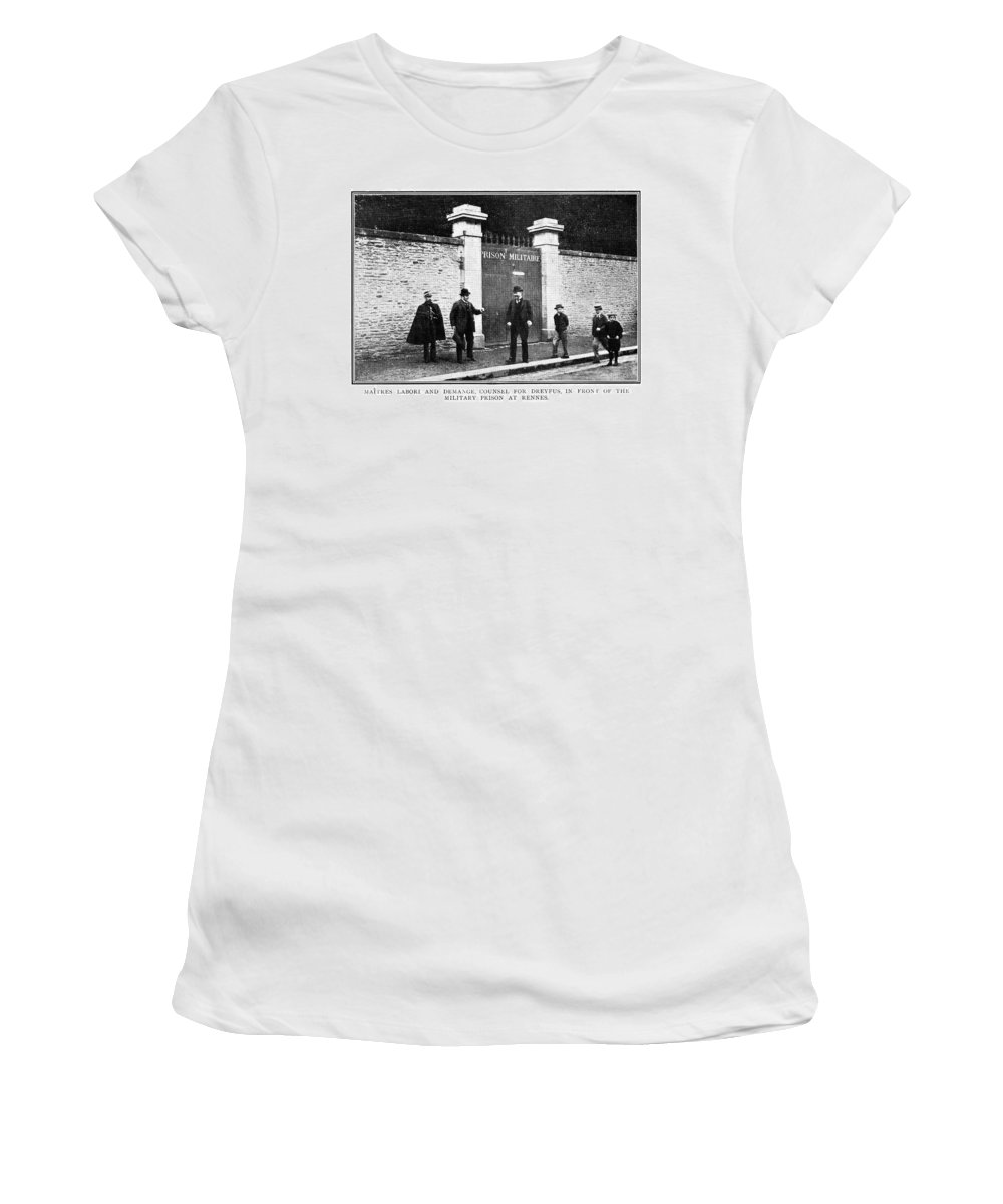 1899 Women's T-Shirt (Athletic Fit) featuring the photograph Dreyfus Affair, 1899 by Granger