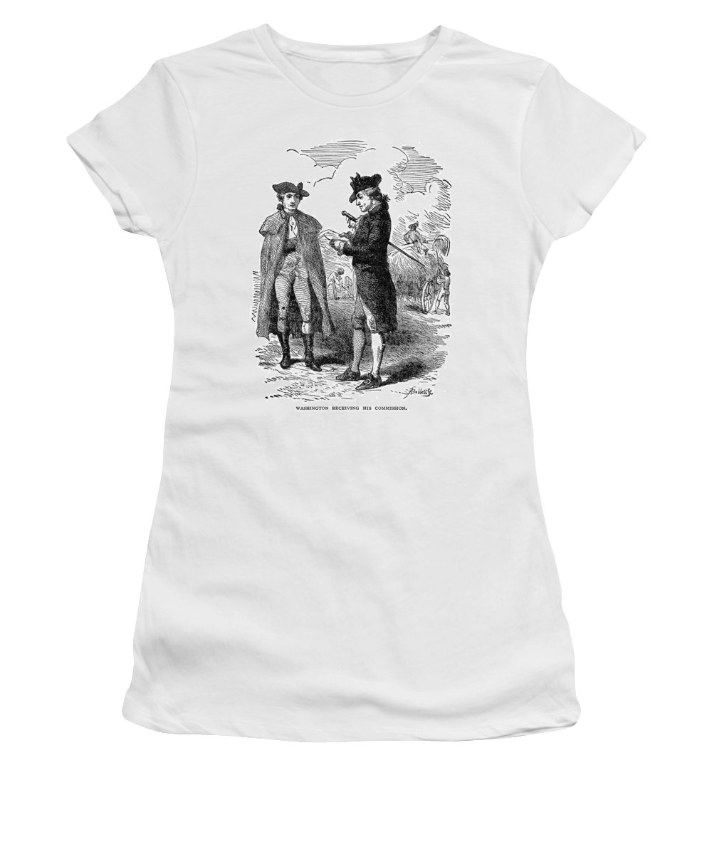 1775 Women's T-Shirt (Athletic Fit) featuring the painting George Washington (1732-1799) by Granger