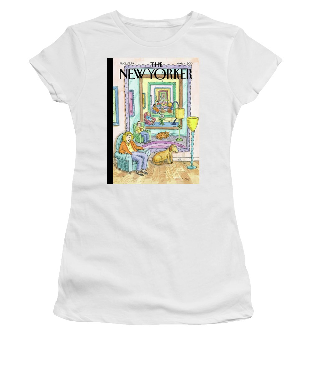Dog Women's T-Shirt featuring the painting Ad Infinitum by Roz Chast