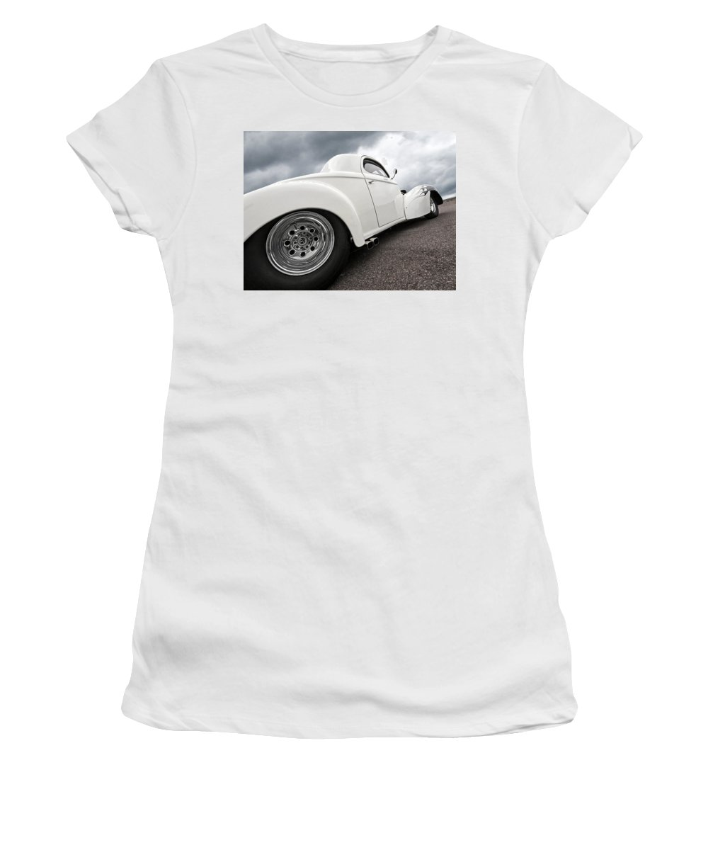 Cars Women's T-Shirt (Athletic Fit) featuring the photograph 41 Willys Coupe by Gill Billington