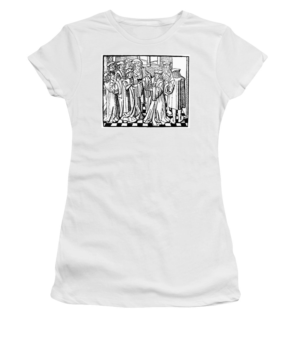 16th Century Women's T-Shirt (Athletic Fit) featuring the painting Charles Martel (c688-741) by Granger