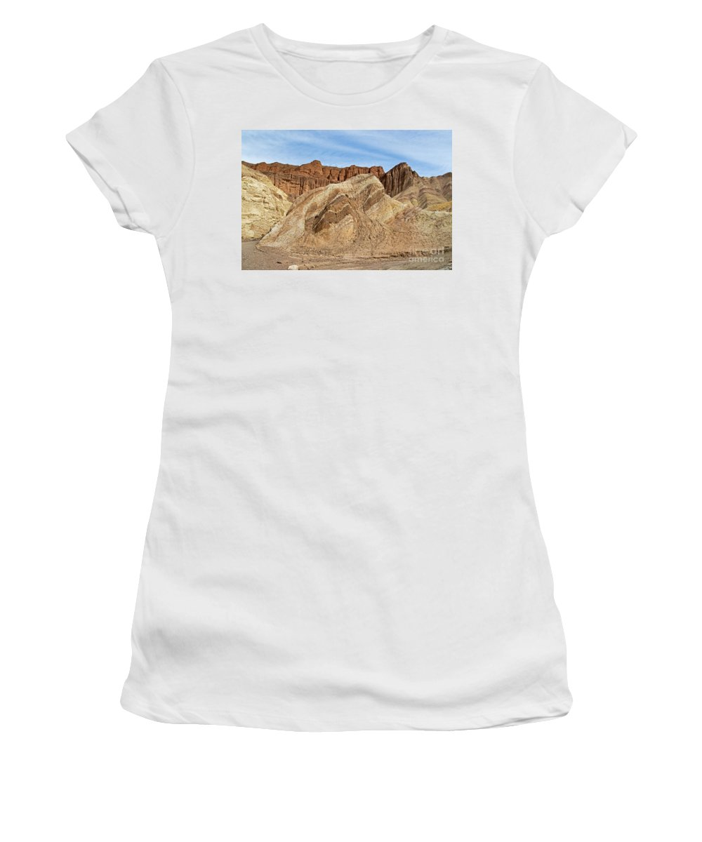 Afternoon Women's T-Shirt (Athletic Fit) featuring the photograph Golden Canyon Death Valley National Park by Fred Stearns