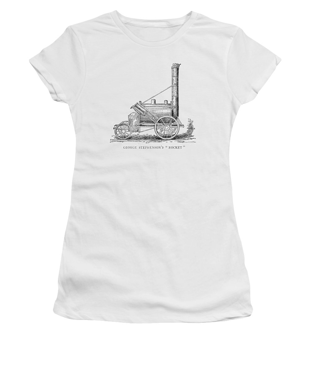 1829 Women's T-Shirt (Athletic Fit) featuring the painting Locomotive Rocket, 1829 by Granger