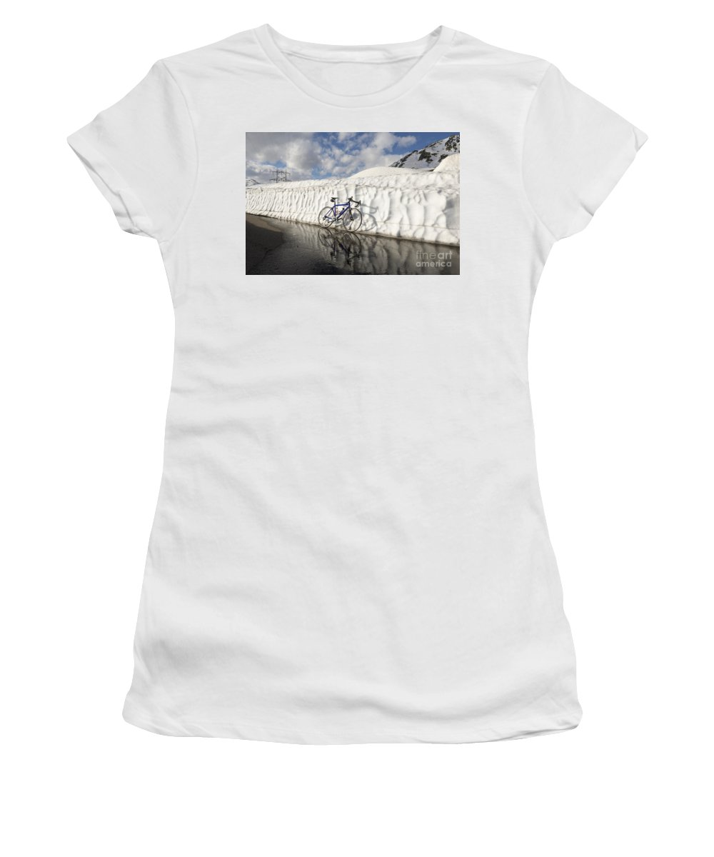 Bicycle Women's T-Shirt featuring the photograph Bicycle by Mats Silvan