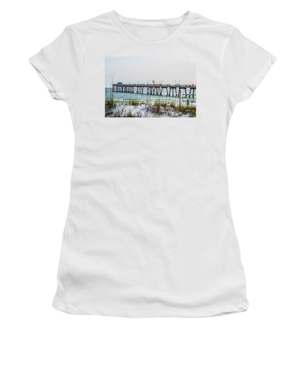 Atlantic Women's T-Shirt (Athletic Fit) featuring the photograph Florida Beach Scene by Alex Grichenko