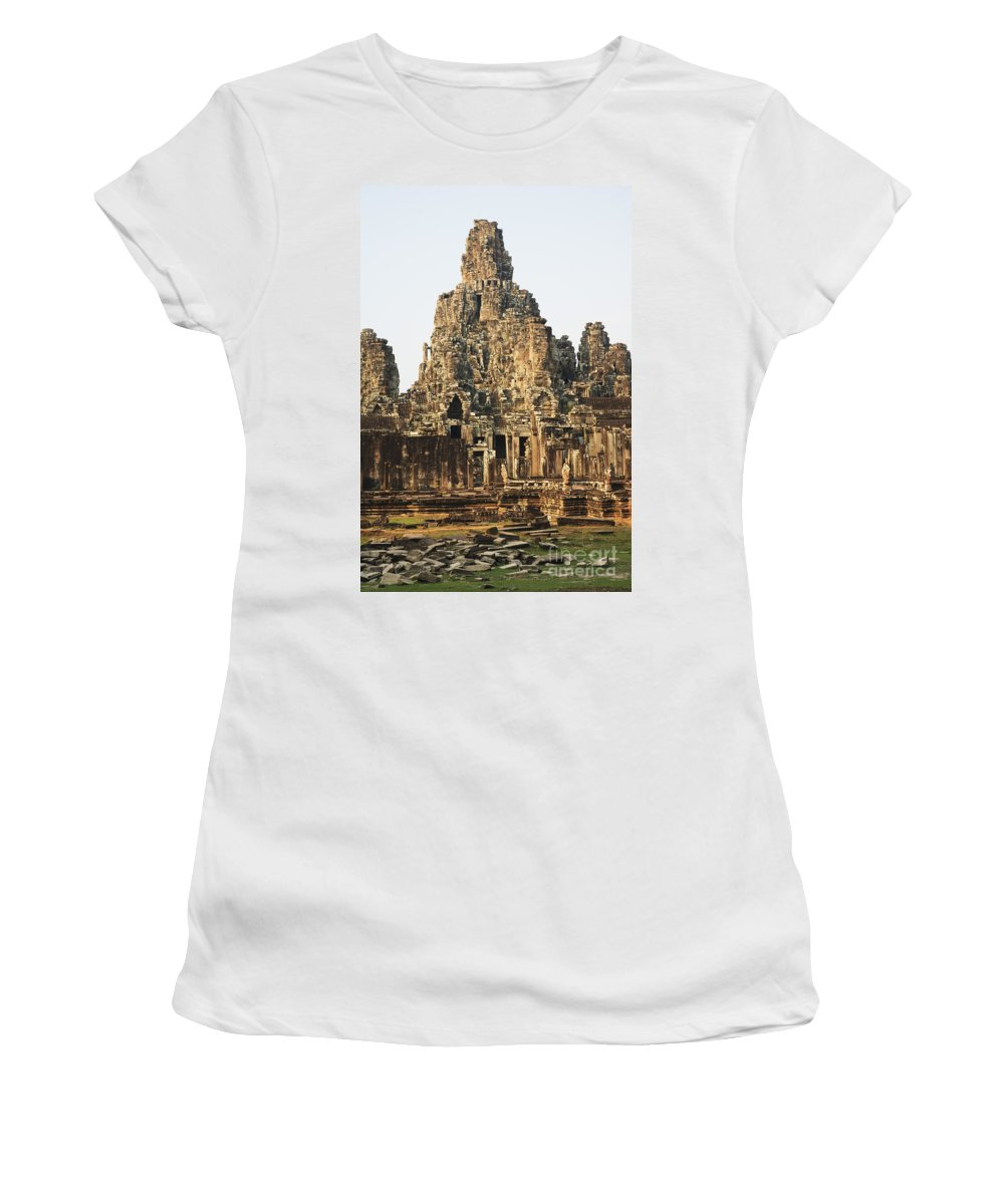 Ancient Women's T-Shirt (Athletic Fit) featuring the photograph Angkor Thom by David Davis