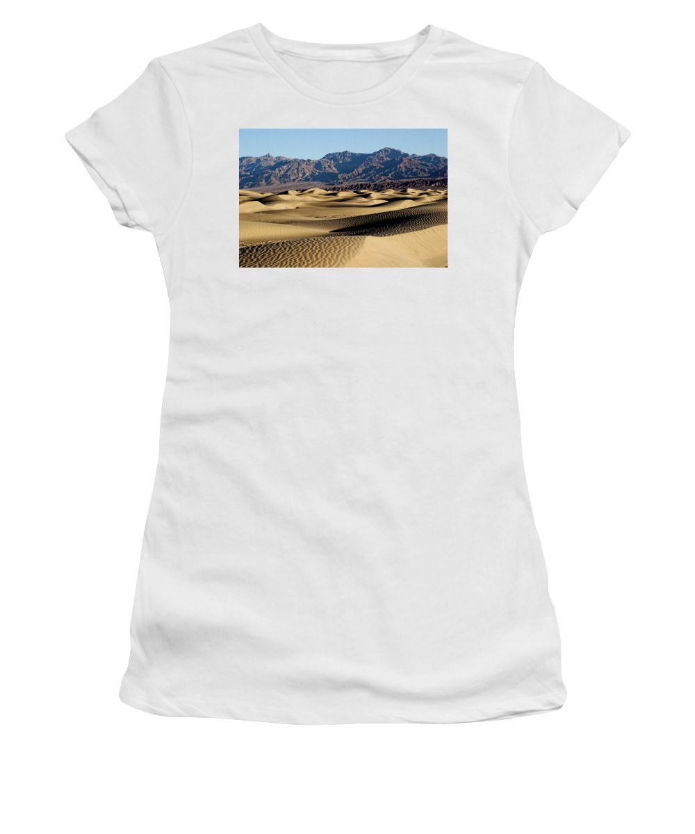 Death Valley Women's T-Shirt (Athletic Fit) featuring the photograph Death Valley Dunes by Diana Hughes