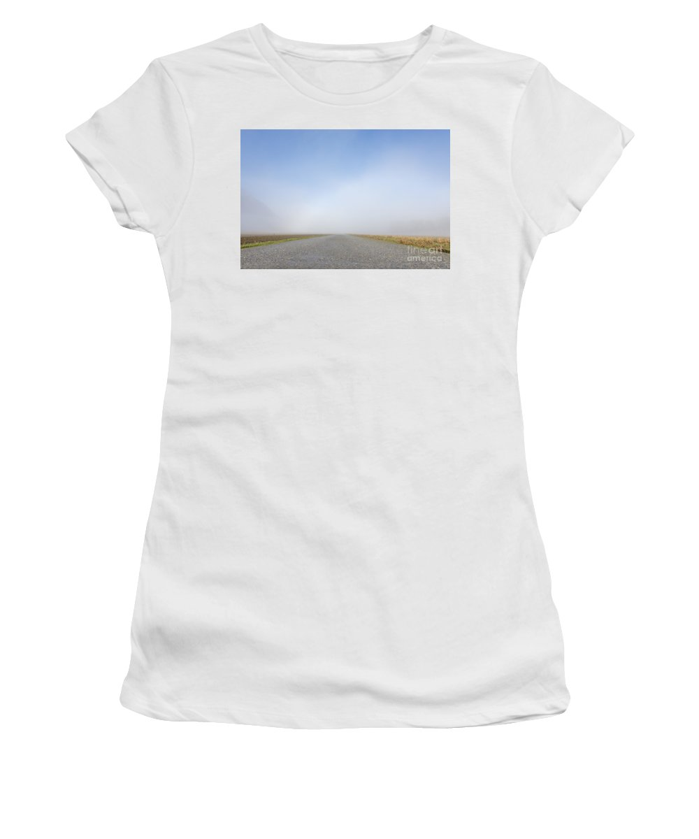 Street Women's T-Shirt featuring the photograph Foggy Road by Mats Silvan