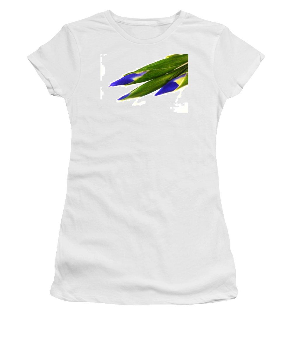 Purple Women's T-Shirt (Athletic Fit) featuring the photograph Iris by Henrik Lehnerer
